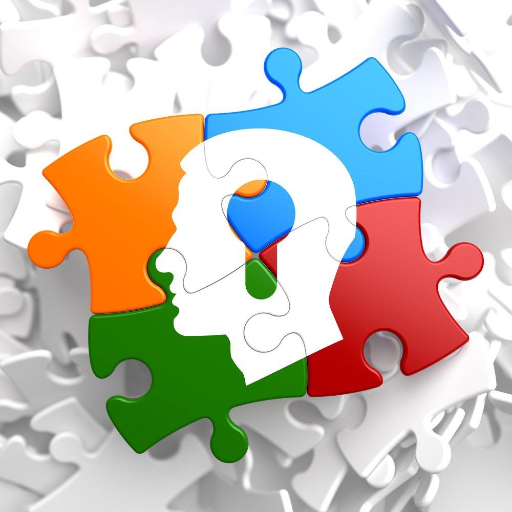 brain puzzle coloured